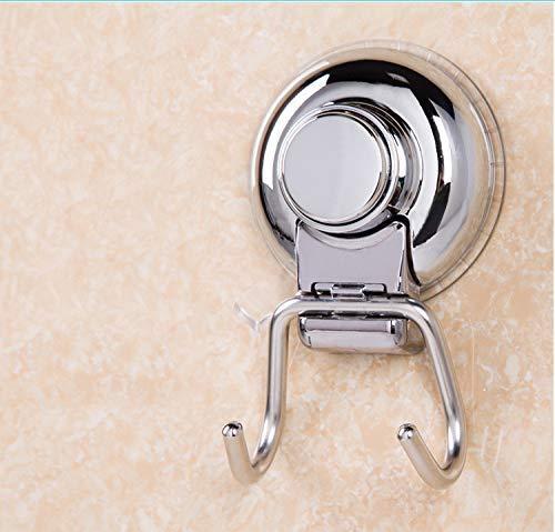 Leyue Doble Ganchos de succión Gancho de vacío para Superficie Lisa Plana Superficie Toalla Toalla Toalla baño Cocina baño baño, Nunca óxido Acero Inoxidable (2 Paquete)