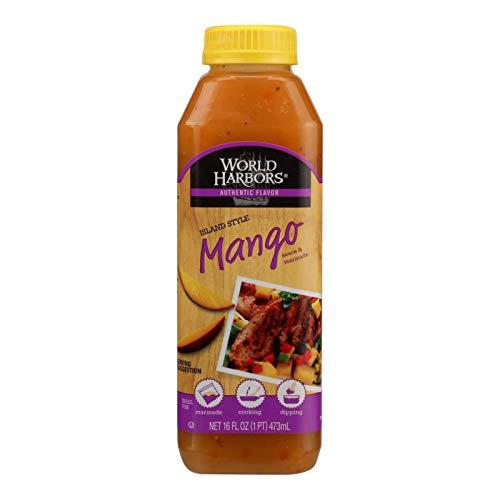 World Harbors Island Mango Sauce and Marinade, 16 Fl Oz (Pack of 6)