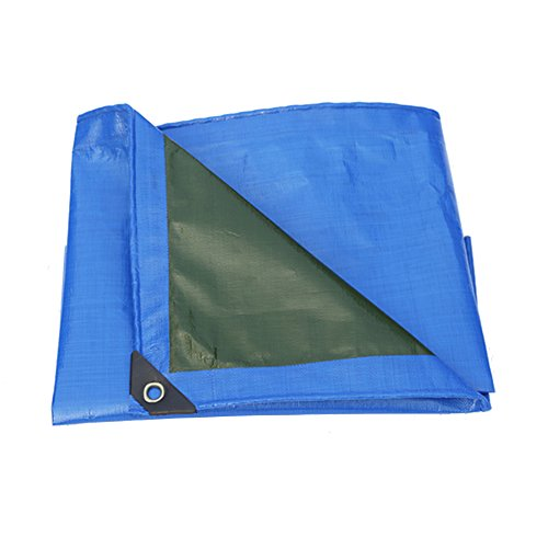 PENGFEI Lastwagen Plane Gewebeplane Wasserdicht Carport Regen Tuch Fabriken Warenhaus Sonnenschutz Winddicht Verdicken Polyethylen, Dicke 0,2 Mm, 240 G/M² (Farbe : Blue+Green, größe : 6×8m)