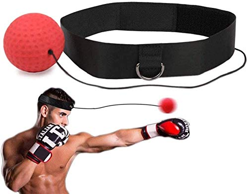 Fubosi Boxing Reflex Ball, Boxing Ball with Headband,Softer Than Tennis Ball, Suit for Reaction, Agility, Punching Speed, Fight Skill and Hand Eye Coordination Training