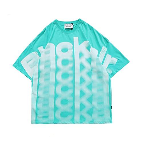 Camiseta De Manga Corta con Cuello Redondo Informal con Estampado De Letras Sueltas con Letras Sueltas De Primavera Y Verano para Mujer