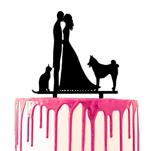 CARISPIBET Decoración para tarta de boda para novio y novia besándose con...