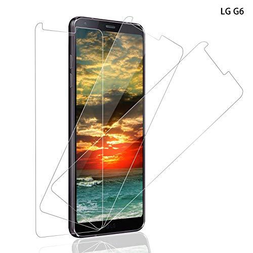 SNUNGPHIR Panzerglas für LG G6 Schutzfolie, [3 stück] 9H Festigkeit Panzerglasfolie, 3D Touch, Anti-Kratzer Schutzglas, Anti-Öl, Blasenfreie Transparent, LG G6 Bildschirmschutzfolie [Einfache Installation]