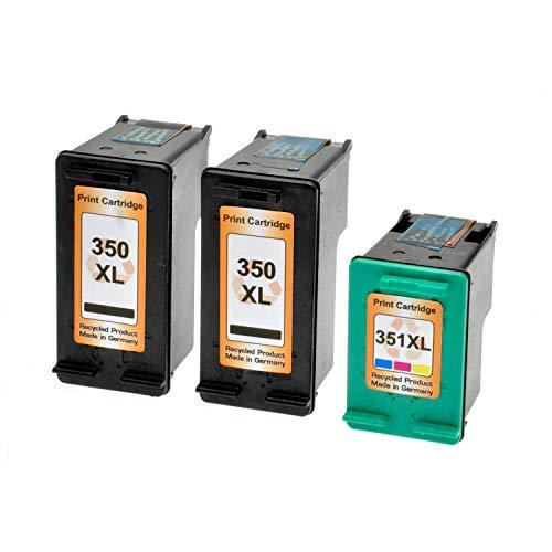 Logic-Seek - Cartuchos de tinta compatibles con HP 350XL 351XL (2 cartuchos y 1 color)