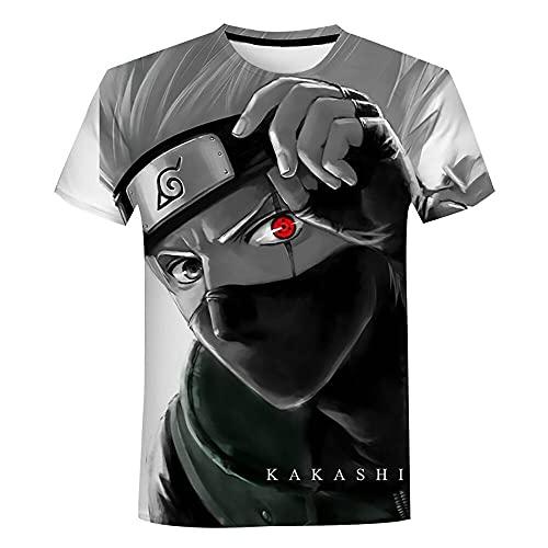 Camiseta Naruto Naruto 3D Camiseta para Hombre Cool Kakashi Camiseta 3D Estampado Anime Manga Corta Moda Verano Casual Manga Corta (120)