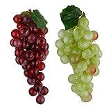 B Blesiya 2 Stück Künstliche Weintrauben Trauben Kunstobst Obst Dekoration
