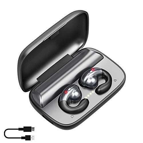 rosemaryrose Cuffie Bluetooth Wireless Running Waterproof Bone Conduction-S19 TWS 5.0 Wireless Bluetooth F9 Headset Hanging Ear Bone Conduction Biaural Auricolare Heaadphone -HD Call 2200 mAh