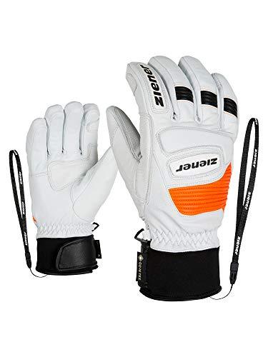 Ziener Guard GTX Gore Grip PR Glove Ski Alpine, Guanti da Sci/Sport Invernali, Impermeabili, Traspiranti. Unisex-Adulto, Bianco, 8