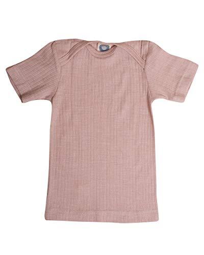 Cosilana, Shirt/Unterhemd Kurzarm, 45% Baumwolle (KBA), 35% Wolle (kbT), 20% Seide (98/104, Pink meliert)