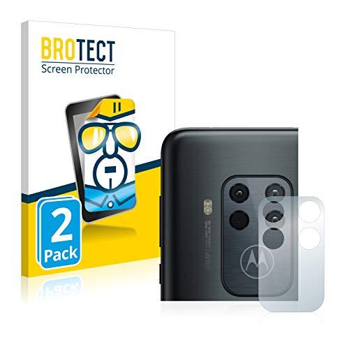 BROTECT Schutzfolie kompatibel mit Motorola One Zoom (NUR Kamera) (2 Stück) klare Bildschirmschutz-Folie