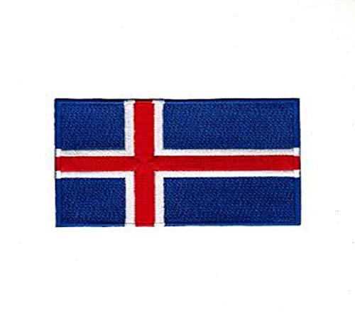 Parche bordado bandera nacional Islandia coser planchar