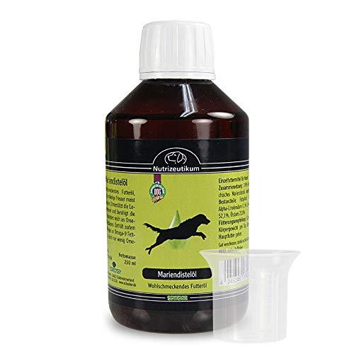 Mariendistelöl 250 ml wohlschmeckendes Futteröl für Hunde unterstützt die Leberfunktionen und beruhigt die Haut