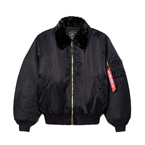 Alpha Industries Men's B-15 Flight Jacket (M, Black)