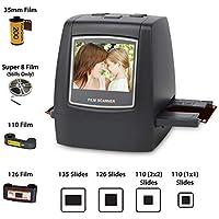 """DIGITNOW! 22MP Escáner de negativos y diapositivas , Convertidor digital con 2,4""""LCD para 35 mm/ Super 8/ 110/ 126 película"""