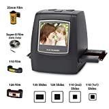DIGITNOW Film Scanner with 22MP Converts 126KPK/135/110/Super 8 Films, Slides, Negatives All in One into Digital Photos,2.4' LCD Screen, Impressive 128MB Built-in Memory