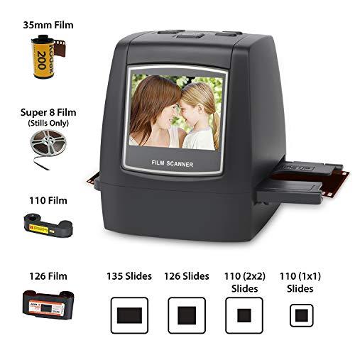 DIGITNOW! Dia Film Scanner (Film/Slide,super 8 Film, 35mm und 110,126,SD-/MMC-Karten Steckplatz, USB 2.0 Schnittstelle, Wechselstrom, 22 MP, CMOS