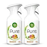 Air Wick PURE Belebend – Fruchtig-frisches Duftspray geruchsneutralisierend & ohne feuchten Niederschlag – Duft: Orange & Grapefruit – 2 x 250 ml