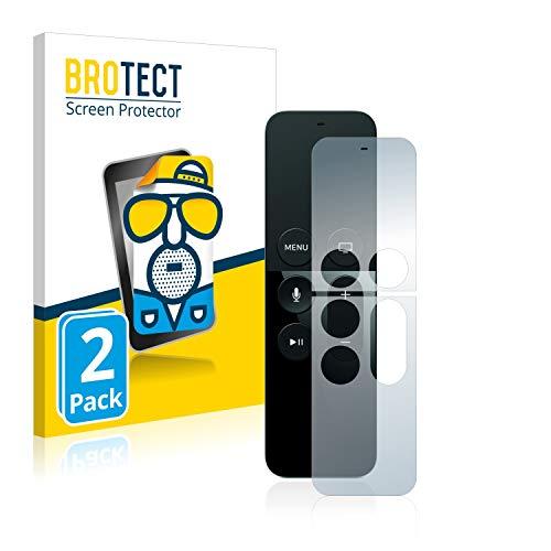 BROTECT Protector Pantalla Anti-Reflejos Compatible con Apple Remote Control Apple TV 4 (2 Unidades) Pelicula Mate Anti-Huellas
