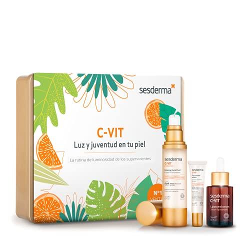 Sesderma C-Vit Pack Supervivientes, C VIT Liposomal Serum + C VIT Radiance Fluido Luminoso + C VIT Contorno de Ojos