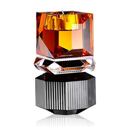 Reflections Copenhagen - Kerzenleuchter, Kerzenständer, Teelichtständer - Dakota - Kristallglas -(LxBxH): 9 x 9 x 16,5 cm