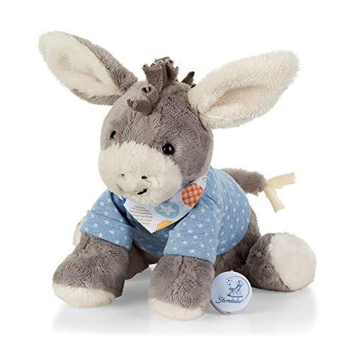 Sterntaler 6012000 Baby Spieluhr M Esel Emmi grau - aus über 100 Melodien ein Spielwerk wählen (* Mozarts Wiegenlied (Schlafe mein Prinzchen))