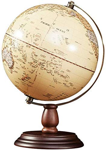 NOSSON Globe Mini Vintage World Globe, Antique Desktop Globe Decorative Ornaments, Rotating Geography Education Earth Globes with Wooden Base
