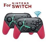 MeterMall Elektronisch tragbar für NS Switch Pro Splatoon2 Xenoblade Bluetooth Wireless Gamepad Remote Controller Joypad für Nintend Switch Game Player Konsole Joystick Xenoblade 2 Stück