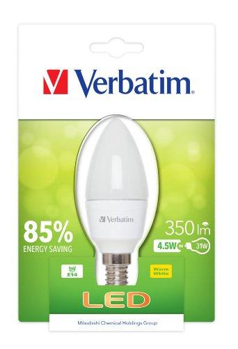 Verbatim LED Bulb, Glas, E14, 4.5 W, White