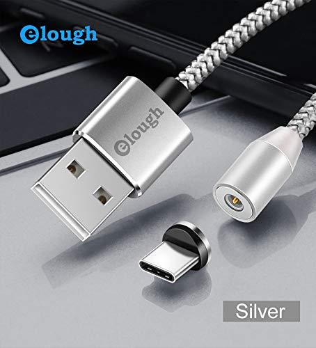 Magnetische oplaadkabel 360° USB-C aansluiting - blauwe LED verlichting - NIEUW 2019 -