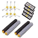 De Galen Kit de repuesto de repuesto para accesorios de limpieza de aspiradora Irobot Fit para Roomba serie 800/900, robots de limpieza al vacío, kit de repuesto para cepillos y filtros (color negro)