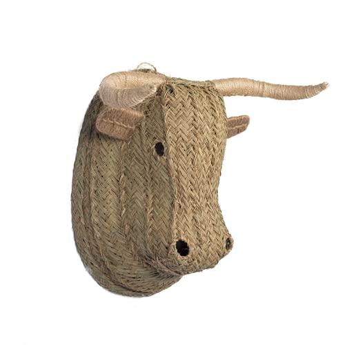 Cabeza de Toro Hecha artesanalmente con Esparto. (22x25cm, 25)
