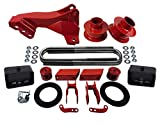 American Automotive Fits 2011+ F250 F350 Super Duty Lift Kit 4WD Red 3' Front Spring Spacers + 3'...