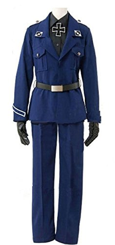 Cosnew Halloween Prussia Army Military Outfits Uniform Costume-Made (Female M)