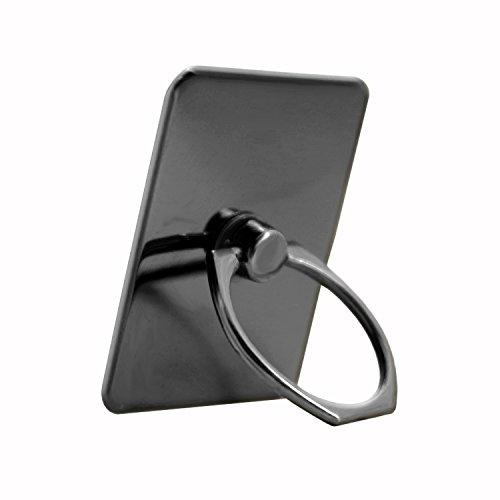 Unbekannt PH26 Ring Halterung schwarz für Haier Voyage V6 aus verchromtem Aluminium, 360 Grad drehbar, Elegantes Design, mit 3M Klebeband