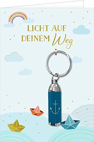 Grußkarte - Licht auf deinem Weg (Boote): mit Taschenlampe