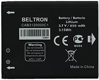 New 850 mAh CAB3120000C1 BELTRON Replacement Battery for Alcatel 510A (AT&T), 768 Flip (MetroPCS/T-Mobile), OT-800A One Touch, OT-807, OT-880A One Touch Xtra, OT-880A Avengeance