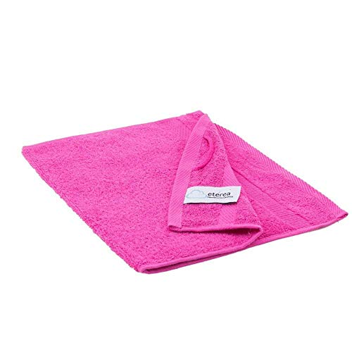 etérea Carli Handtuch Gästetuch - 100% Baumwolle und Oeko Tex Standard 100 - weich und saugstark - Qualitäts Frottierware 500 g/m² Größe: 30x50 cm, Farbe: Pink