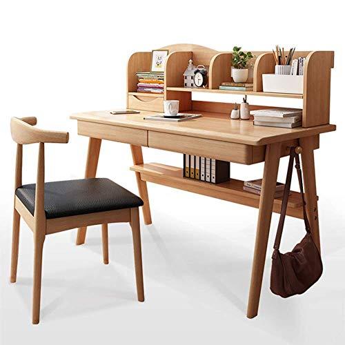 Living Equipment Kinder Aktivität Tischset Student Study Desk Kinderschreibtisch Computer Schreibtisch Geschenk für Mädchen und Jungen Kinder Tisch und Stühle Set (Farbe: Braun Größe: 80X60X110CM)