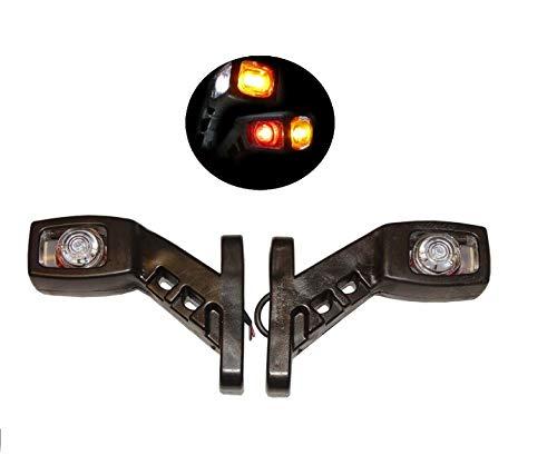 2x LED Umrissleuchte Positionsleuchte Begrenzungsleuchten Markierungsleuchte für LKW und Anhänger Leuchten Seitenmarkierungsleuchten 12V 24V