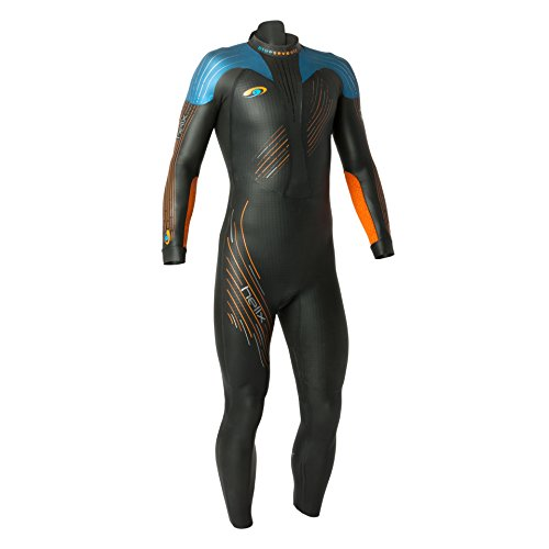 blueseventy 2019 Men's Helix Triathlon Wetsuit - for Open Water Swimming - Ironman & USAT Approved - (L)