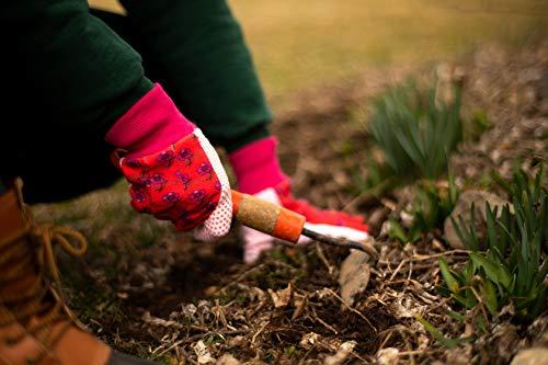 G & F 1852-3 Women Soft Jersey Garden Gloves, Women Work Gloves, 3-Pairs Green/Pink/Blue per Pack