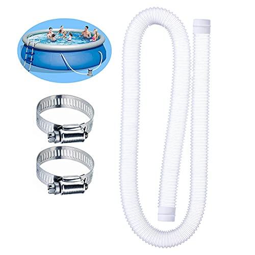 32mm Tubo Piscina,Tubo Flessibile Per Piscina, Tubo Universale Per Piscina Tubo Flessibile Di Ricambio Per Pompa Per Piscina Diametro 1,25 Pollici Compatibile Con Tubo Pompa Per Pompe Filtro 607, 637