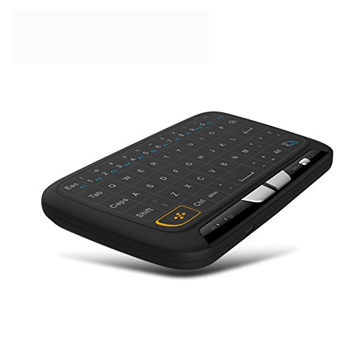 ShiningXX 2.4Ghz Mini teclado inalámbrico retroiluminado pantalla completa teclado táctil Combo para PC, Android TV Box, PS3