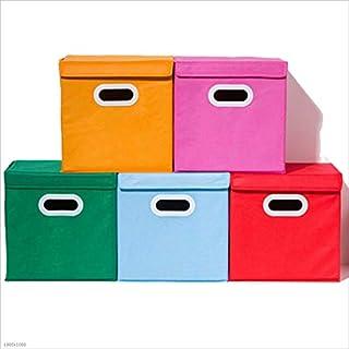 Panier de Rangement Poubelle Boîte de rangement rectangulaire en tissu de coton avec panier de rangement pliable fait main...
