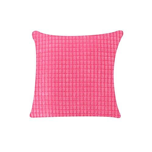 Ynnxia - 1 cojín de rayas para sofá o silla, decoración del hogar, funda de almohada cuadrada, estilo elegante, 6 tamaños opcionales, perfecto para sofá, silla, oficina, hogar, regalos, 30 x 50 cm., Rose Red