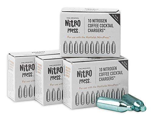 NitroPress Coffee Cocktail Chargers, Use with NitroPress Instant Nitrogen Diffuser (Box of 40)