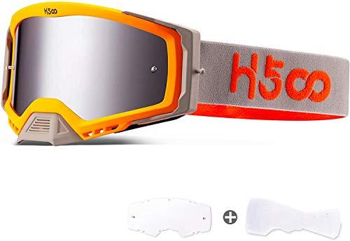 SGTTX Gafas de motocross Antivaho Antipolvo Gafas transparentes para motocicleta MTB Sendero de descenso Dirt Jump Ciclismo Off Road Racing Gafas MX con gafas de motocicleta Tear Off