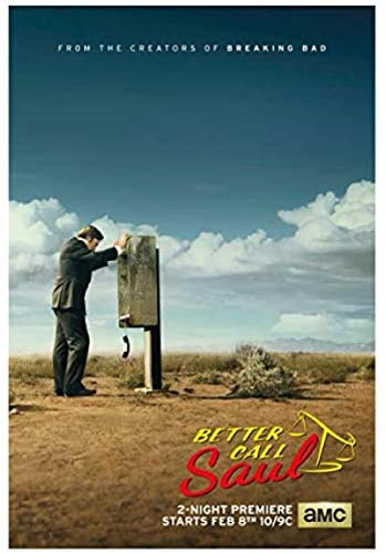 Rzhss Better Call Saul Season 1 Tv Series Posters And Prints Wall Art Canvas Painting For Living Room Home Decor Gift -20X28 Inch No Frame