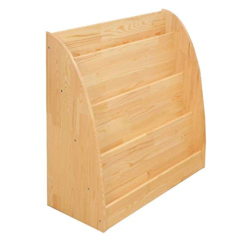 N/Z Home Equipment Children's Bookcase Kids Wooden Bookshelf Children's Bedroom Furniture Bookcase Display and Storage Rack Children Bedroom (Color : Wood Size : 80x35x83cm)