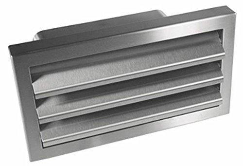 Afzuigkap roestvrij staal buitenrooster 125-er soft plat kanaal 150x70mm afvoerlucht